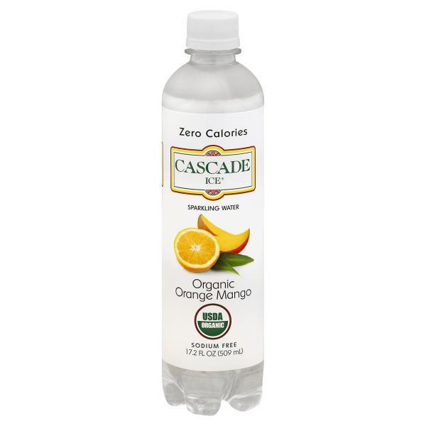 Cascade Ice Sparkling Water - Organic Orange Mango