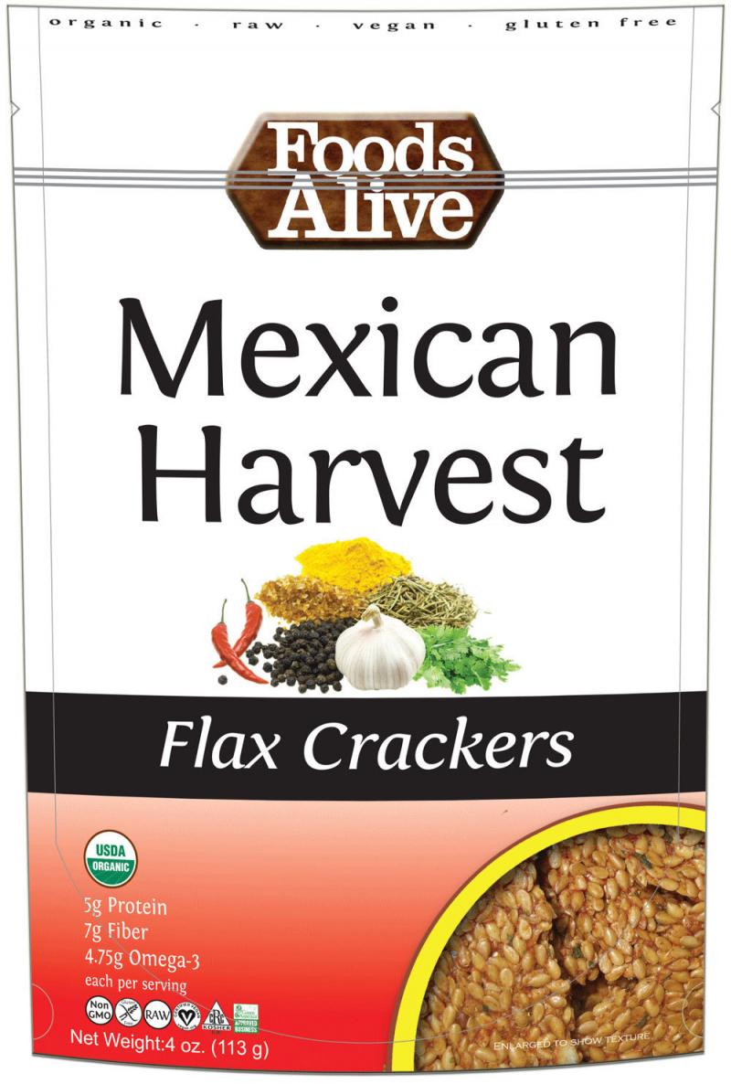 Mexican Harvest Flax Crackers