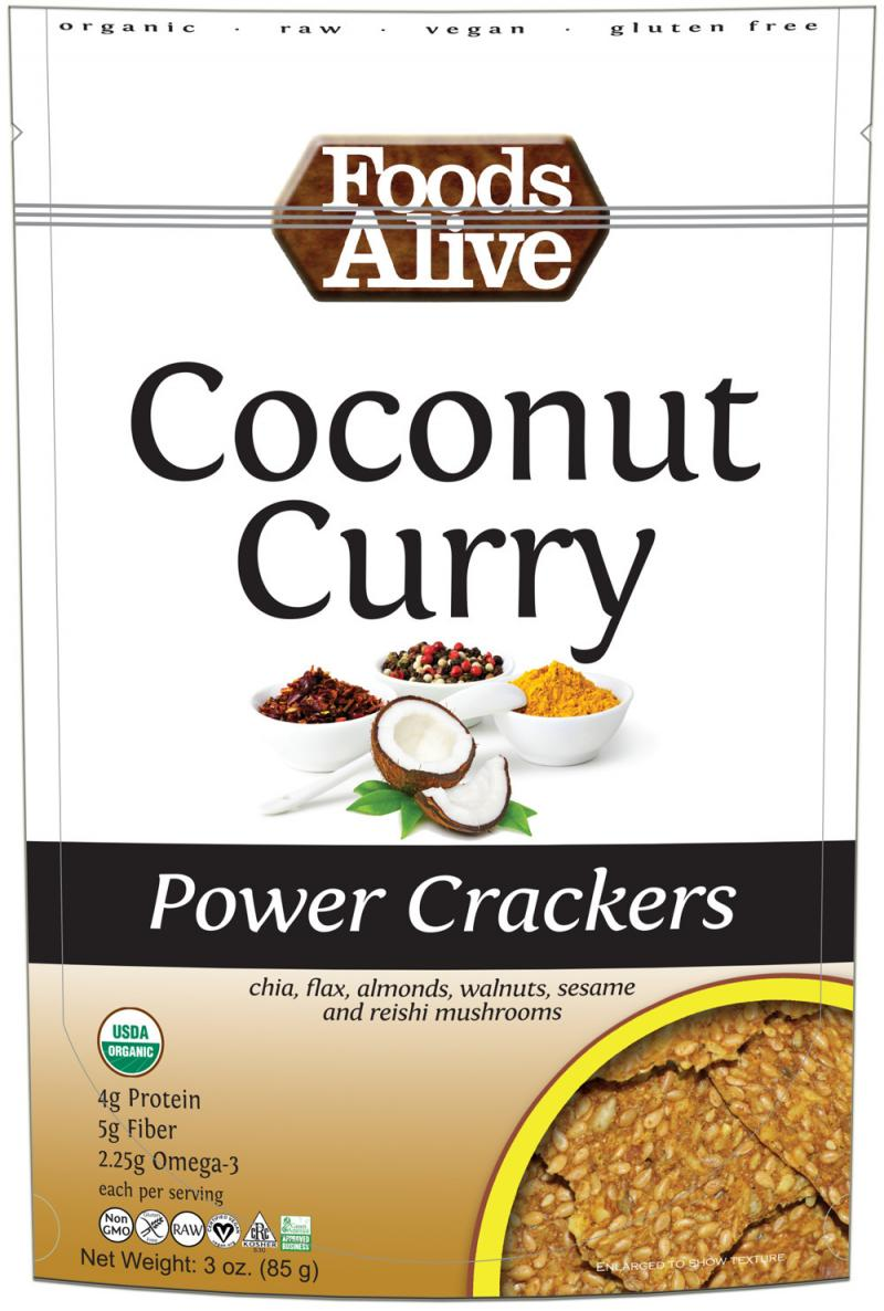 Coconut Curry Power Crackers