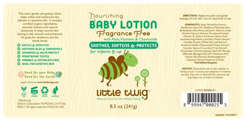 Nourishing Baby Lotion With Aloe, Vitamins & Chamomile