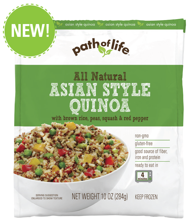 Asian Style Quinoa With Brown Rice, Peas, Squash & Red Pepper