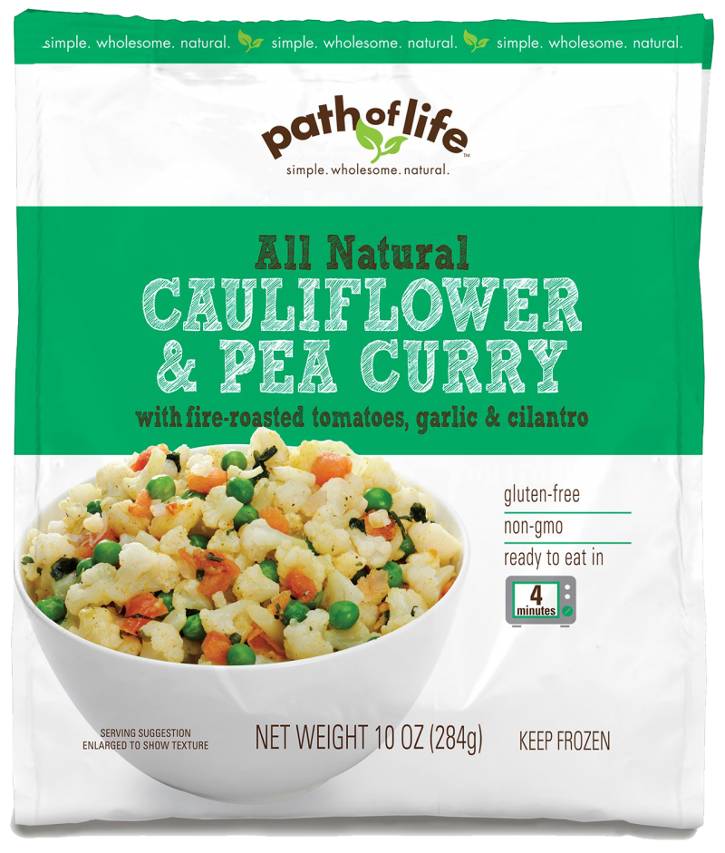 All Natural Cauliflower & Pea Curry