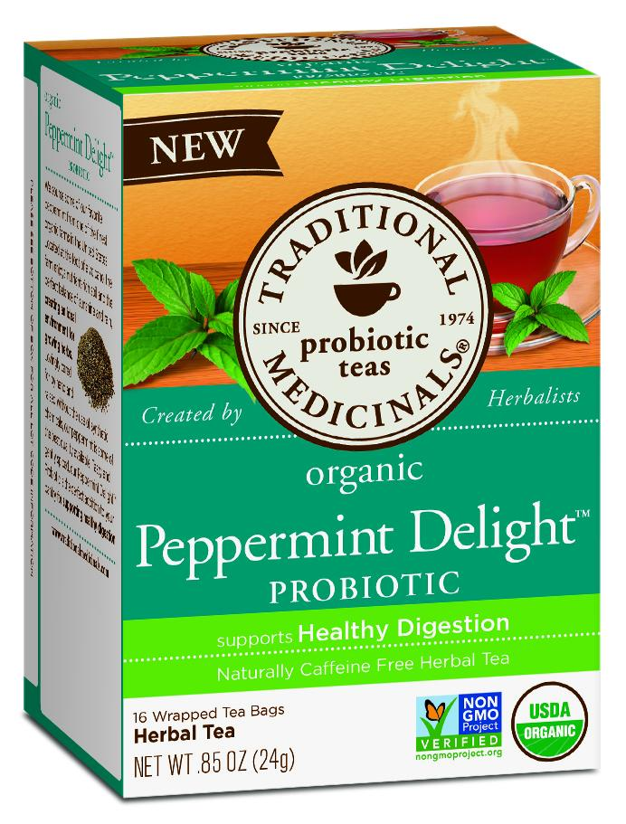 Organic Peppermint Delight Probiotic Herbal Tea