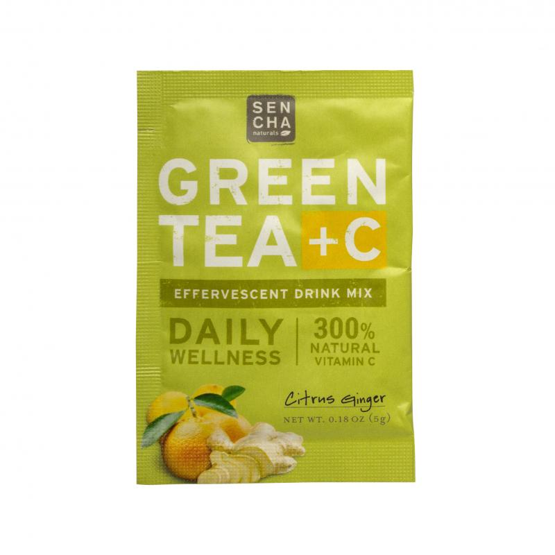 Green Tea + C Effervescent Drink Mix