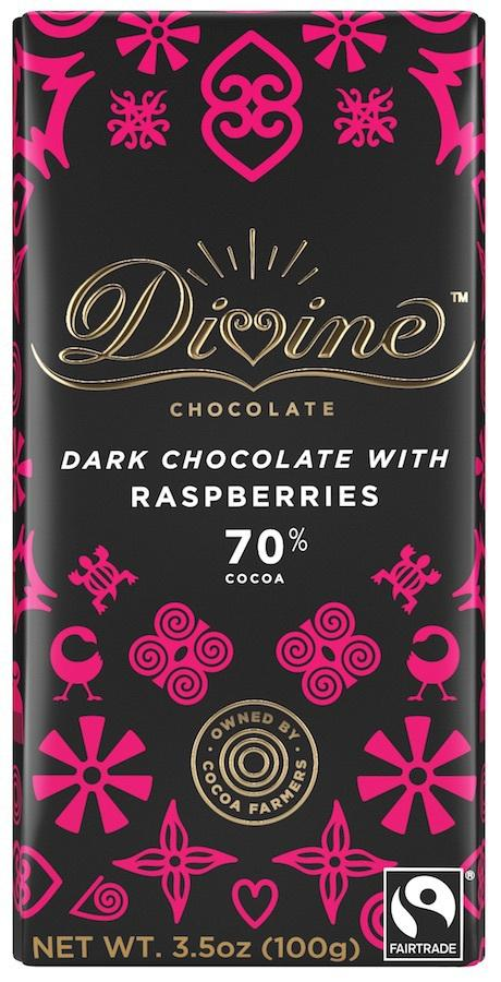 Dark Chocolate With Raspberries