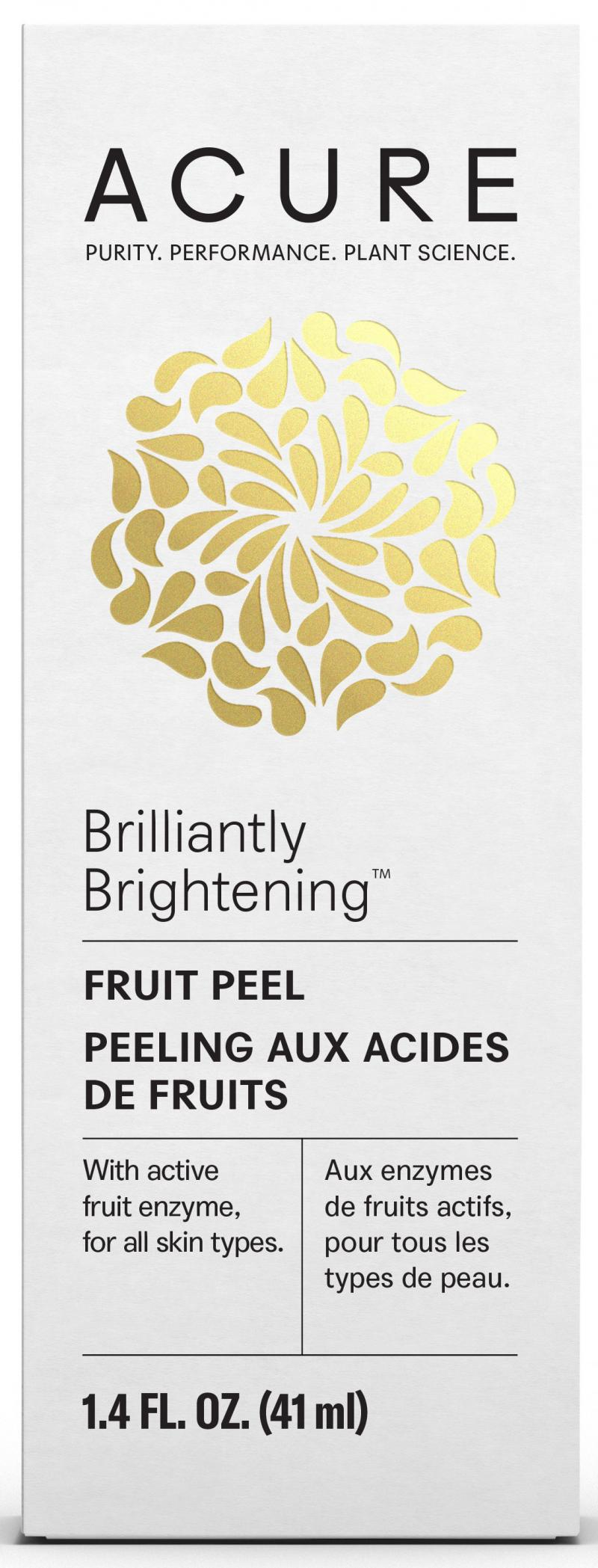 Fruit Peel With Active Fruit Enzyme, For All Skin Types.