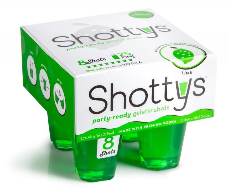 Party-ready Gelatin Shots, Lime