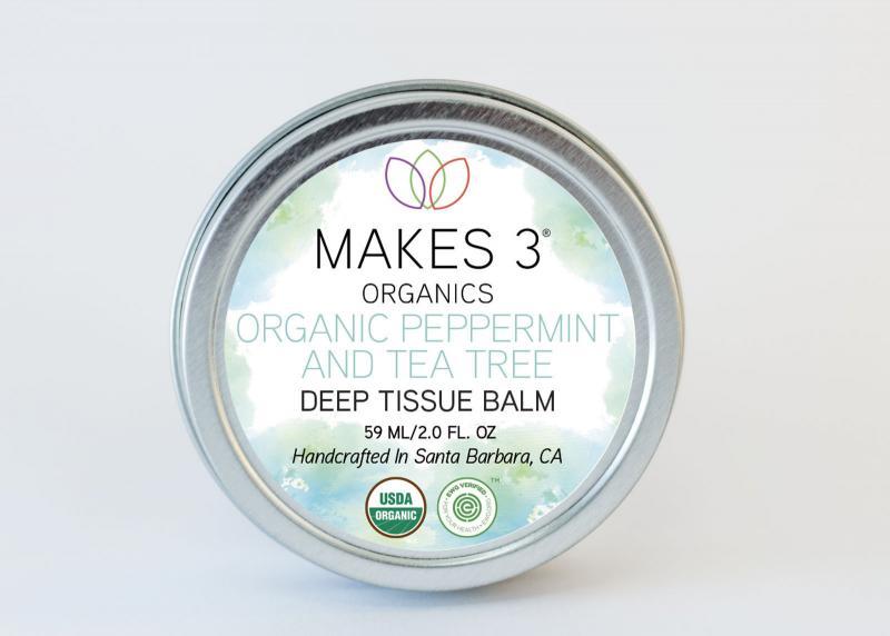 Deep Tissue Balm, Organic Peppermint And Tea Tree