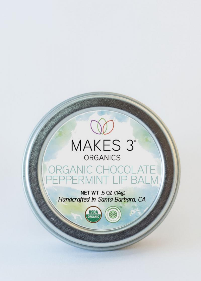 Organic Chocolate Peppermint Lip Balm