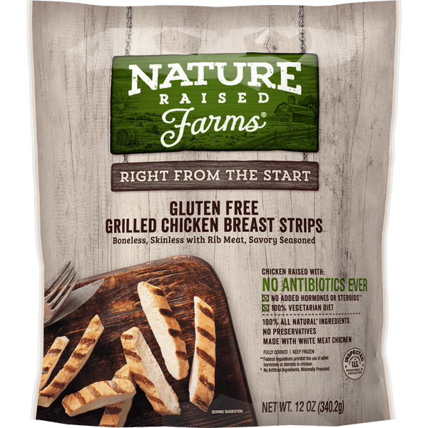 NatureRaised Farms® Grilled Chicken Breast Strips | The