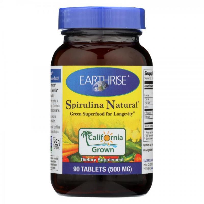 Spirulina Natural 500mg Tablets - 90 Tabs