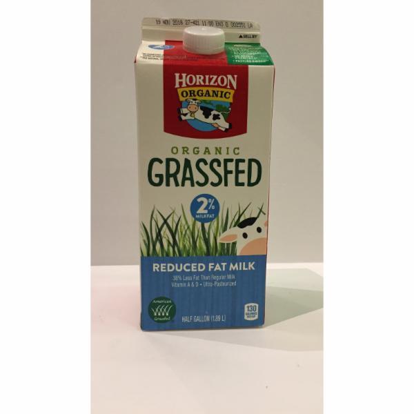 ORGANIC GRASSFED REDUCED FAT MILK