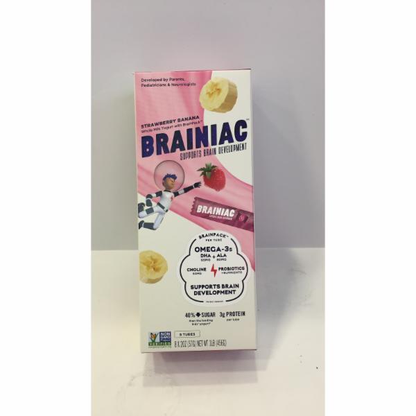 STRAWBERRY BANANA WHOLE MILK YOGURT WITH BRAINPACK SUPPORTS BRAIN DEVELOPMENT