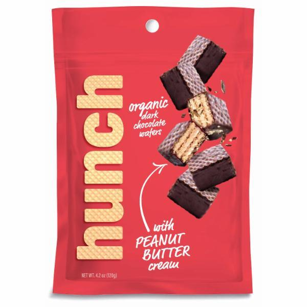 ORGANIC DARK CHOCOLATE WAFERS WITH PEANUT BUTTER CREAM