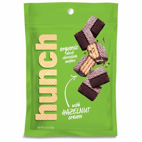 ORGANIC DARK CHOCOLATE WAFERS WITH HAZELNUT CREAM