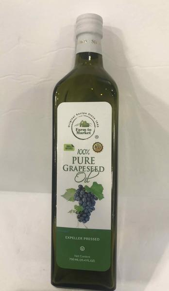 100% EXPELLER PRESSED PURE GRAPESEED OIL