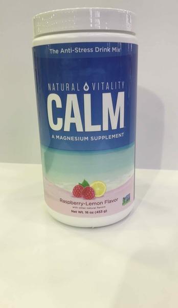 RASPBERRY-LEMON FLAVOR CALM THE ANTI-STRESS DRINK MIX A MAGNESIUM SUPPLEMENT