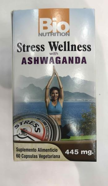 STRESS WELLNESS WITH ASHWAGANDA DIETARY SUPPLEMENT VEGETARIAN CAPSULES