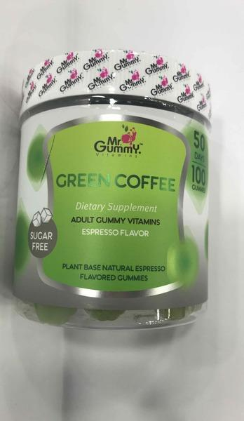 GREEN COFFEE ADULT GUMMY VITAMINS DIETARY SUPPLEMENT GUMMIES, ESPRESSO