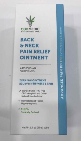 BACK & NECK PAIN RELIEF OINTMENT TUBE