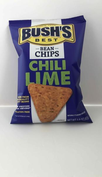 CHILI LIME FLAVORED BEAN CHIPS