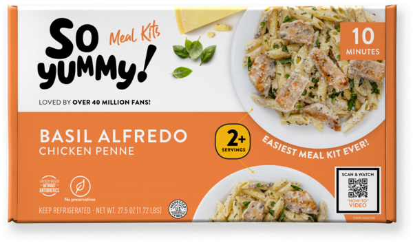 BASIL ALFREDO CHICKEN PENNE MEAL KIT