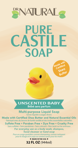 UNSCENTED BABY PURE CASTILE SOAP