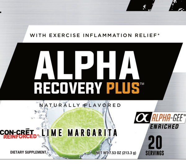 ALPHA RECOVERY PLUS WITH EXERCISE INFLAMMATION RELIEF DIETARY SUPPLEMENT, LIME MARGARITA