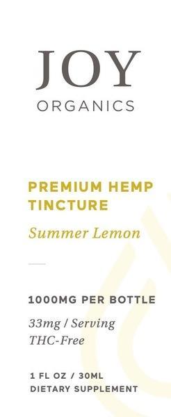 PREMIUM HEMP 33 MG DIETARY SUPPLEMENT TINCTURE, SUMMER LEMON