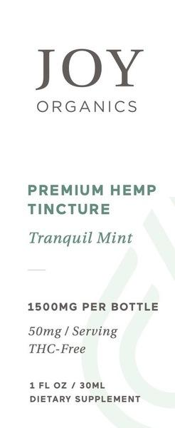 PREMIUM HEMP 50 MG DIETARY SUPPLEMENT TINCTURE, TRANQUIL MINT