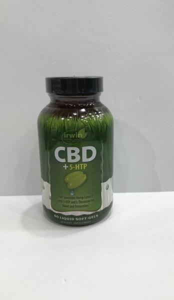 CBD + 5-HTP DIETARY SUPPLEMENT SOFT-GELS