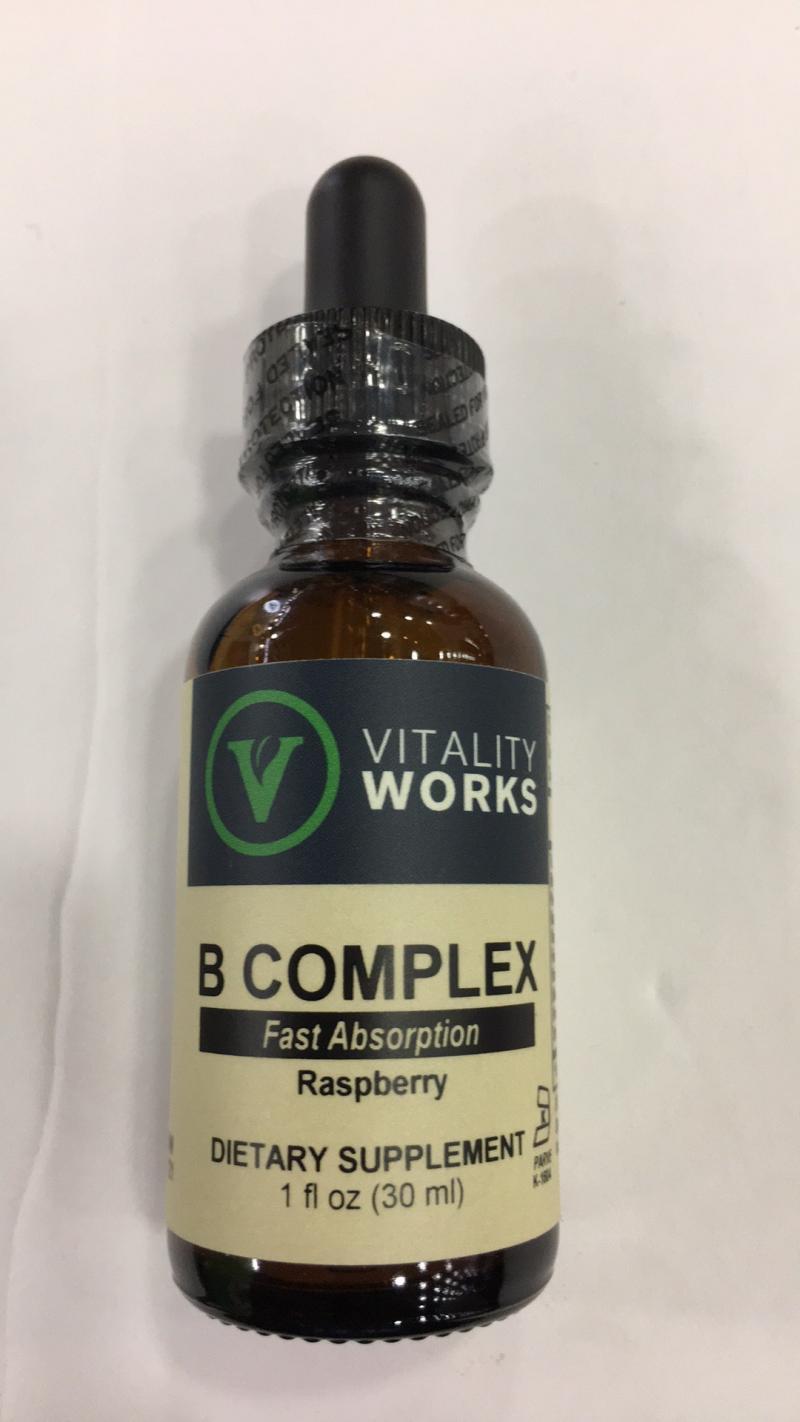 B Complex Fast Absorption Raspberry Dietary Supplement