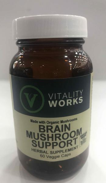 BRAIN MUSHROOM SUPPORT HERBAL SUPPLEMENT VEGGIE CAPS