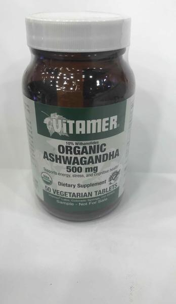 ORGANIC VITAMER ASHWAGANDHA 500 MG DIETARY SUPPLEMENT VEGETARIAN TABLETS