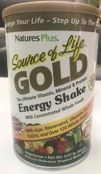 TROPICAL BERRY GOLD ENERGY SHAKE