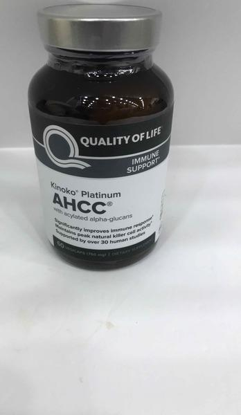 KINOKO PLATINUM AHCC WITH ACYLATED ALPHA-GLUCANS IMMUNE SUPPORT DIETARY SUPPLEMENT VEGICAPS