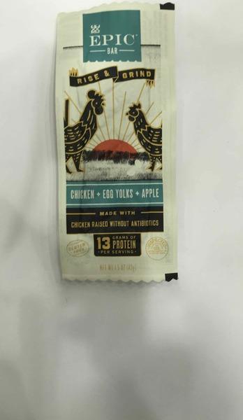 CHICKEN + EGG YOLKS + APPLE RISE & GRIND BAR