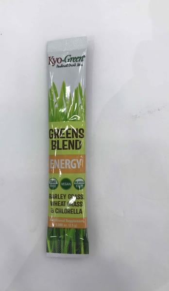 BARLEY GRASS, WHEAT GRASS & CHLORELLA ENERGY GREENS BLEND NUTRITIONAL SUPPLEMENT POWDERED DRINK MIX