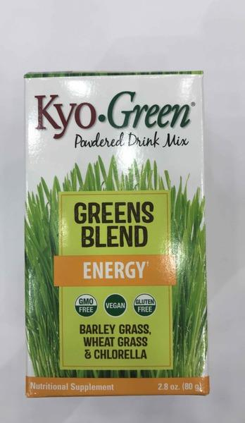 BARLEY GRASS, WHEAT GRASS & CHLORELLA GREENS BLEND ENERGY NUTRITIONAL SUPPLEMENT POWDERED DRINK MIX