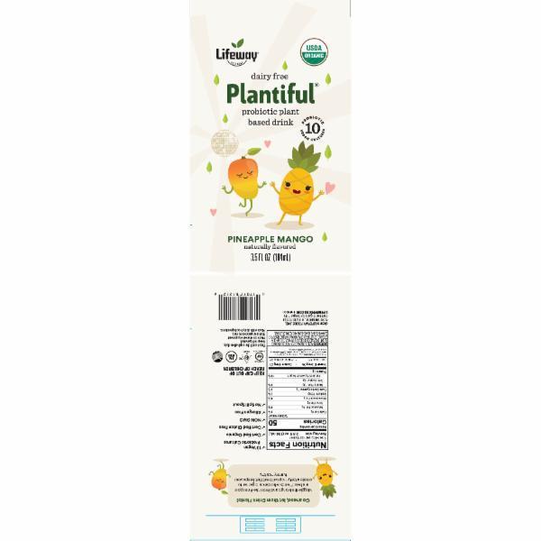 PINEAPPLE MANGO DAIRY FREE PROBIOTIC PLANT BASED DRINK