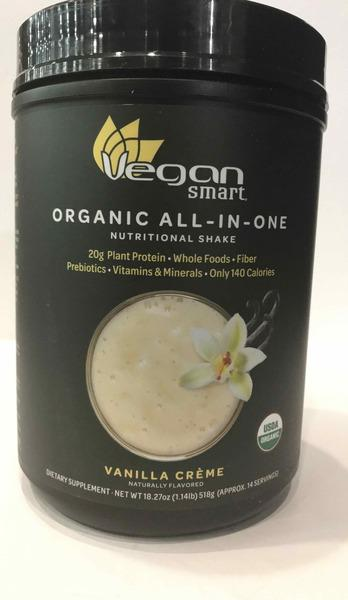 ORGANIC ALL-IN-ONE NUTRITIONAL SHAKE DIETARY SUPPLEMENT, VANILLA CREME