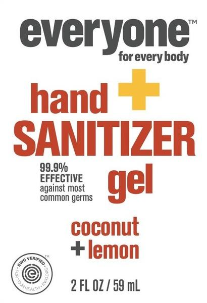 HAND SANITIZER GEL, COCONUT + LEMON