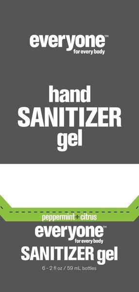 HAND SANITIZER GEL, PEPPERMINT + CITRUS