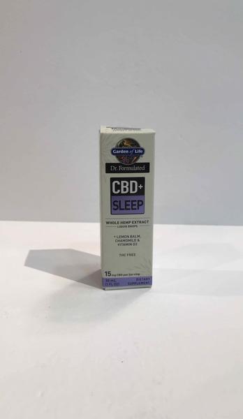 CBD+ SLEEP WHOLE HEMP EXTRACTS LIQUID DROPS + LEMON BALM, CHAMOMILE & VITAMIN D3 DIETARY SUPPLEMENT