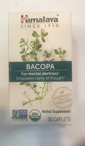BACOPA FOR MENTAL ALERTNESS HERBAL SUPPLEMENT CAPLETS