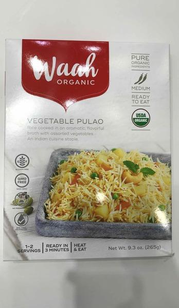 RICE COOKED IN AN AROMATIC, FLAVORFUL BROTH WITH ASSORTED VEGETABLES. AN INDIAN CUISINE STAPLE VEGETABLE PULAO