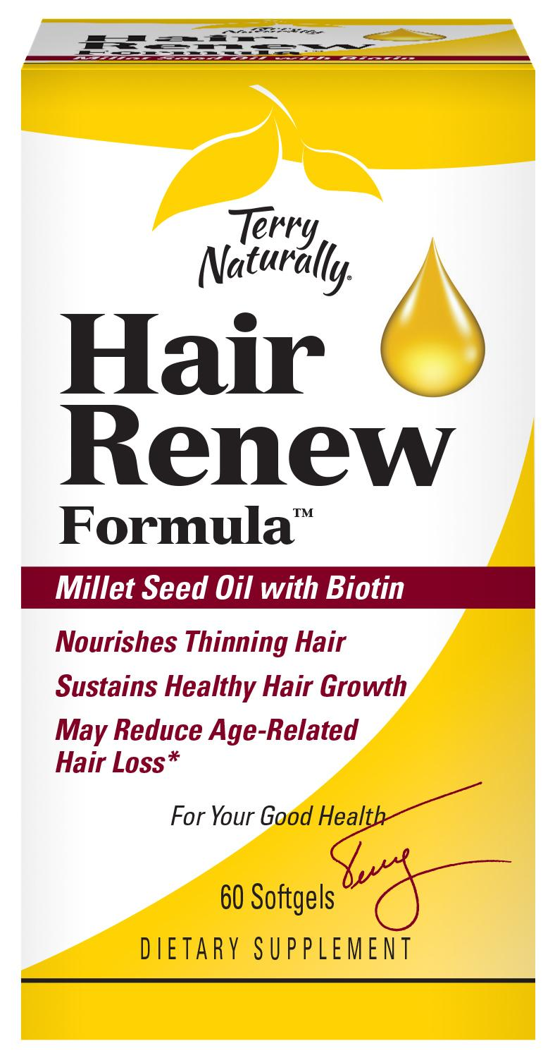 HAIR RENEW FORMULA MILLET SEED OIL WITH BIOTIN DIETARY SUPPLEMENT SOFTGELS