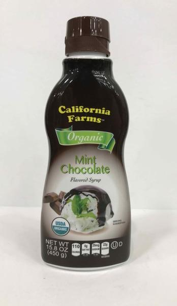 ORGANIC MINT CHOCOLATE FLAVORED SYRUP