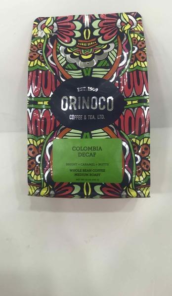 BRIGHT + CARAMEL + NUTTY MEDIUM ROAST WHOLE BEAN COLOMBIA DECAF COFFEE