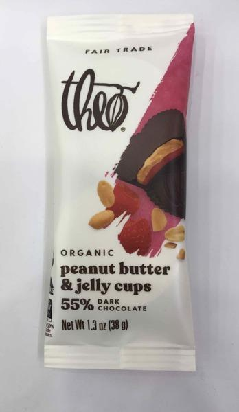 ORGANIC PEANUT BUTTER & JELLY CUPS 55% DARK CHOCOLATE